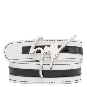 giuseppe zanotti • NEW • white logo belt